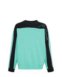 mintgrünes bedrucktes Sweatshirt von Martine Rose