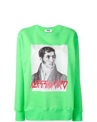 mintgrünes bedrucktes Sweatshirt von MSGM