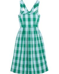 mintgrünes Kleid mit Vichy-Muster von J.Crew