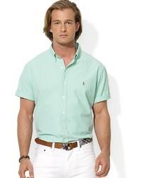 mintgrünes Kurzarmhemd