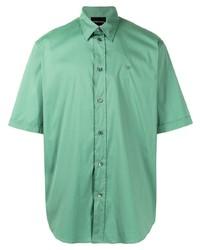 mintgrünes Kurzarmhemd von Emporio Armani