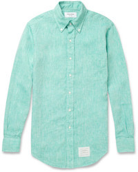 mintgrünes Langarmhemd