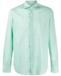 mintgrünes Langarmhemd von Finamore 1925 Napoli