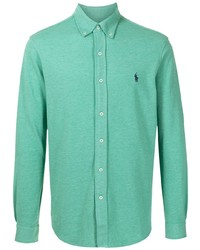 mintgrünes Langarmhemd von Polo Ralph Lauren