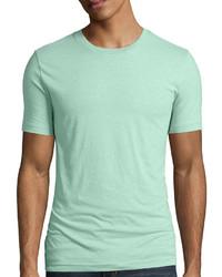 mintgrünes T-Shirt mit einem Rundhalsausschnitt