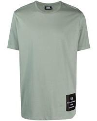 mintgrünes T-Shirt mit einem Rundhalsausschnitt von Karl Lagerfeld