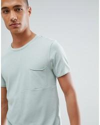 mintgrünes T-Shirt mit einem Rundhalsausschnitt von Tom Tailor