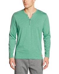 mintgrünes T-shirt mit einer Knopfleiste von Tom Tailor