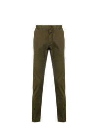 olivgrüne Anzughose mit Hahnentritt-Muster von Closed
