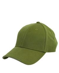 olivgrüne Baseballkappe