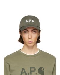 olivgrüne Baseballkappe von A.P.C.