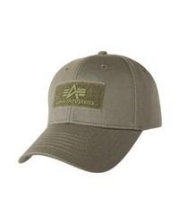 olivgrüne Baseballkappe von Alpha Industries