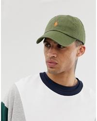 olivgrüne Baseballkappe von Polo Ralph Lauren
