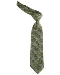 olivgrüne bedruckte Krawatte