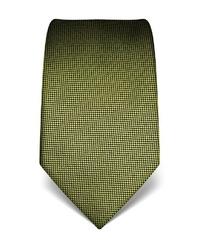 olivgrüne bedruckte Krawatte von Vincenzo Boretti