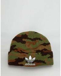 olivgrüne bedruckte Mütze von adidas