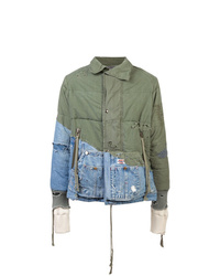 olivgrüne bedruckte Shirtjacke von Greg Lauren