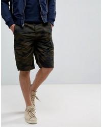 olivgrüne bedruckte Shorts von French Connection
