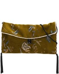 olivgrüne bedruckte Taschen von Forte Forte