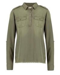 Olivgrüne Bluse mit Knöpfen von Hollister Co.