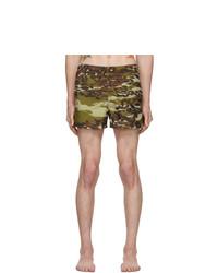 olivgrüne Camouflage Badeshorts von Givenchy