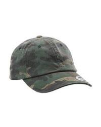olivgrüne Camouflage Baseballkappe von Flexfit