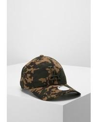 olivgrüne Camouflage Baseballkappe von New Era