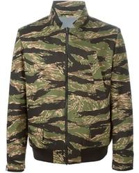 olivgrüne Camouflage Bomberjacke