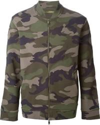 olivgrüne Camouflage Bomberjacke von Valentino