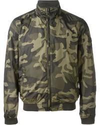 olivgrüne Camouflage Bomberjacke von Woolrich