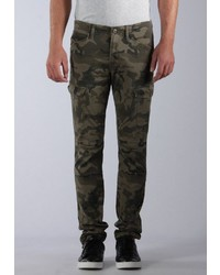 olivgrüne Camouflage Cargohose von Kaporal