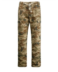 olivgrüne Camouflage Cargohose von MEN PLUS BY HAPPY SIZE