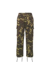 olivgrüne Camouflage Cargohose von Proenza Schouler