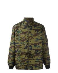 olivgrüne Camouflage Daunenjacke von Jean Paul Gaultier Vintage