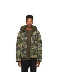 olivgrüne Camouflage Daunenjacke von NOBIS