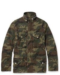olivgrüne Camouflage Feldjacke