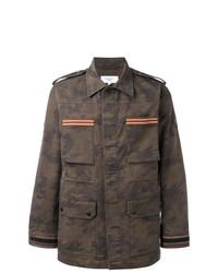 olivgrüne Camouflage Feldjacke von Fashion Clinic Timeless