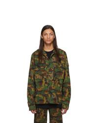 olivgrüne Camouflage Feldjacke von Off-White