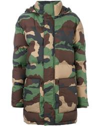 olivgrüne Camouflage Jacke von Moschino
