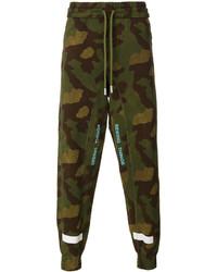 olivgrüne Camouflage Jogginghose