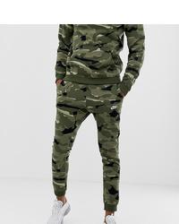 olivgrüne Camouflage Jogginghose von Nike
