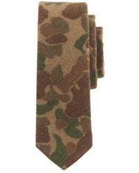 olivgrüne Camouflage Krawatte