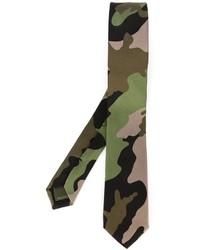 olivgrüne Camouflage Krawatte von Valentino