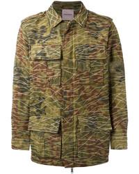 olivgrüne Camouflage Militärjacke