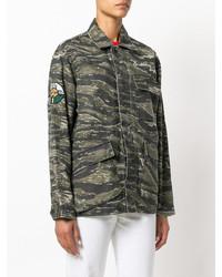 olivgrüne Camouflage Militärjacke von Current/Elliott