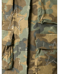 olivgrüne Camouflage Militärjacke von Amiri
