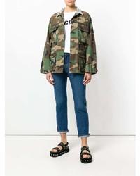 olivgrüne Camouflage Militärjacke von Forte Dei Marmi Couture