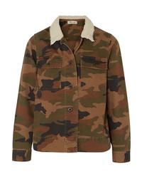 olivgrüne Camouflage Militärjacke von Madewell