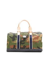 olivgrüne Camouflage Segeltuch Sporttasche