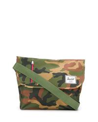 olivgrüne Camouflage Segeltuch Umhängetasche